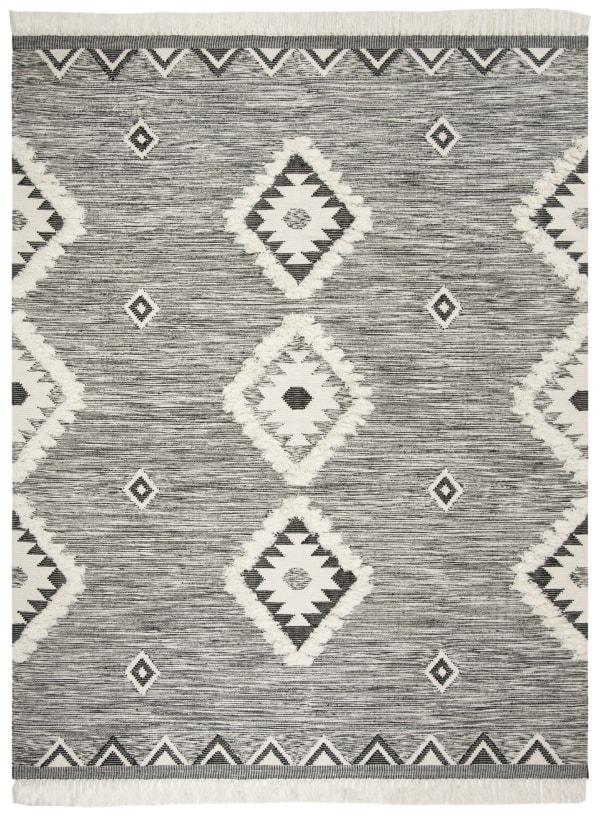 Black Wool Rug 6' x 9'
