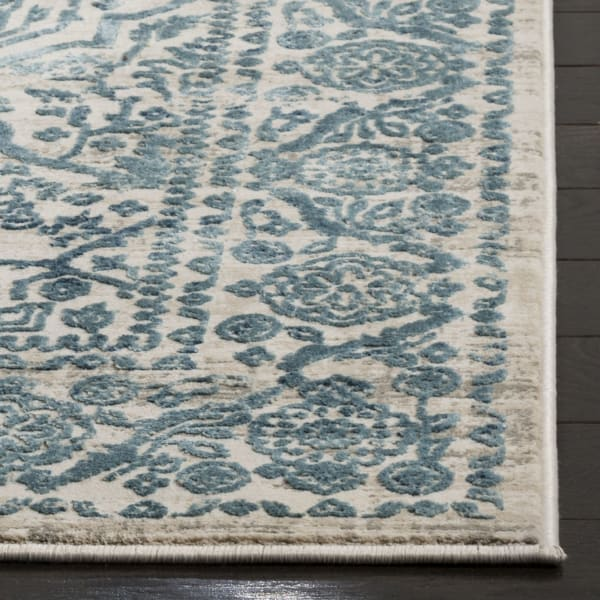Blue Polyester Rug 2.5' x 9'