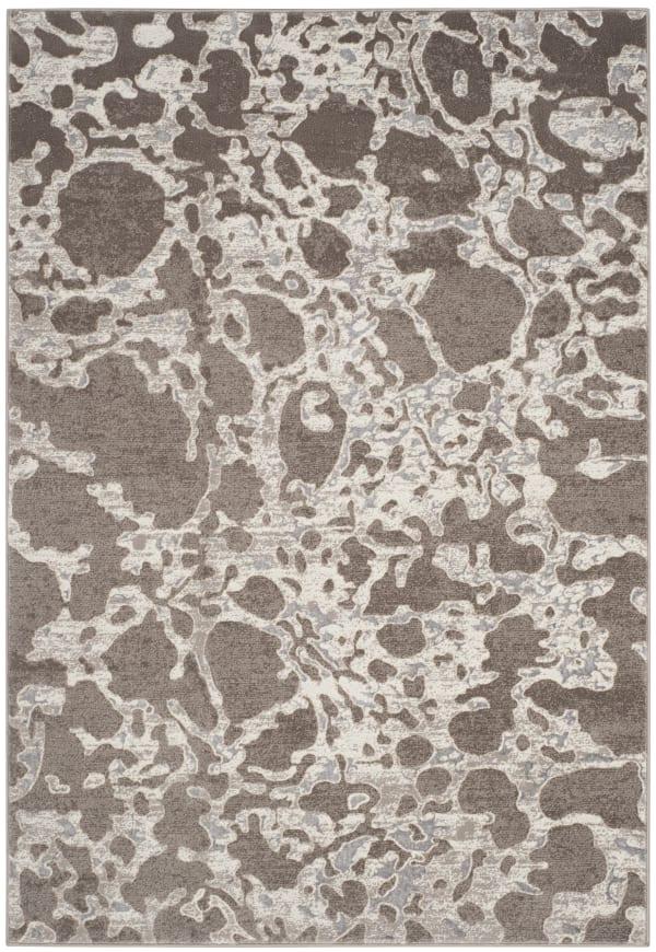 Brown Polypropylene Rug 5' x 8'