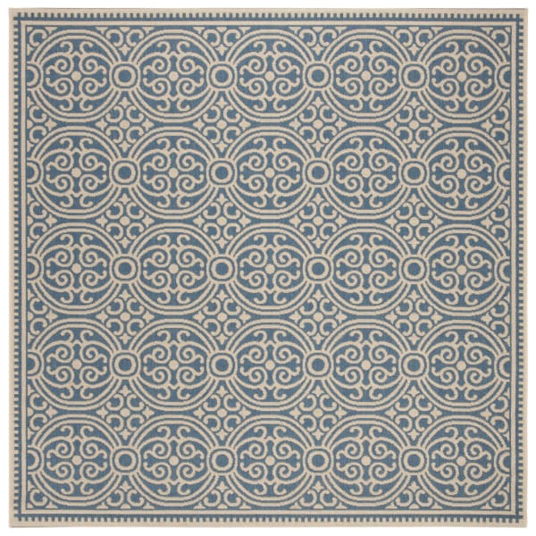 Square White Polypropylene Rug 6' x 6'