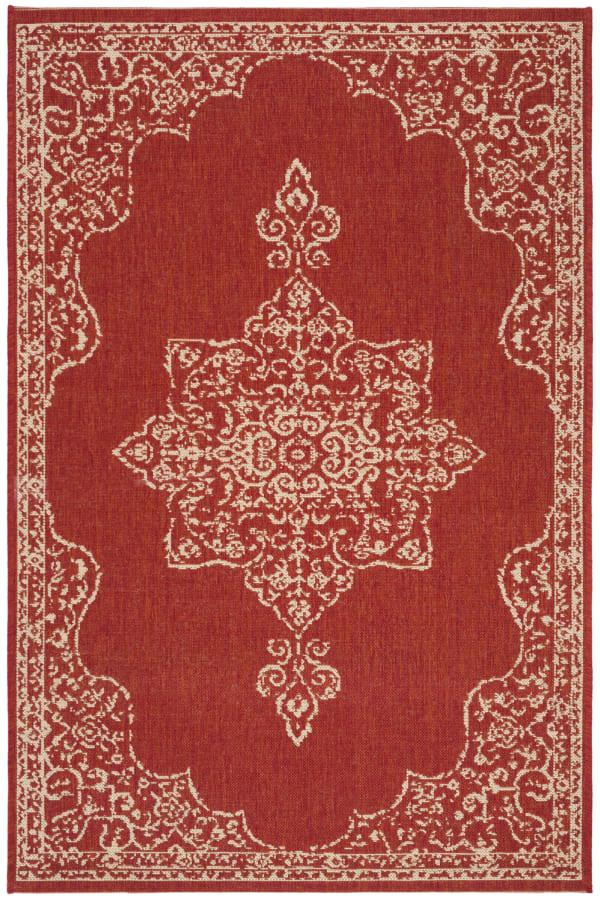 Red Polypropylene Rug 4' x 6'