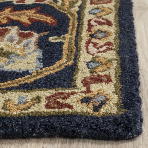 Navy Wool Rug 8' x 10'