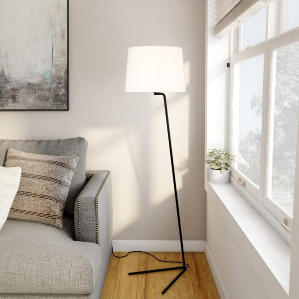 Markos Tilted Blackened Bronze Floor Lamp