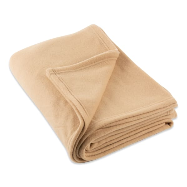 J&M Tan Fleece Blanket Twin/Twin XL 60x96