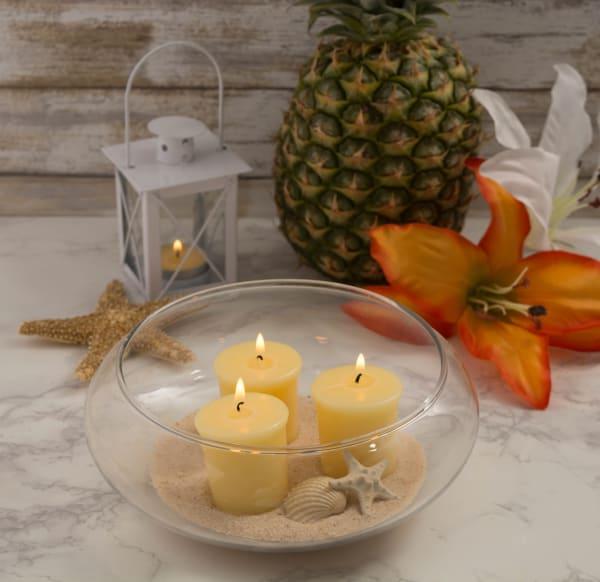 Aloha Pineapple Votives 8 Pc