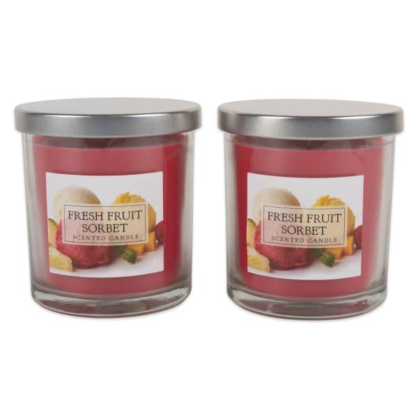 Fresh Fruit Sorbet Single Wick Candle (Set of 2)