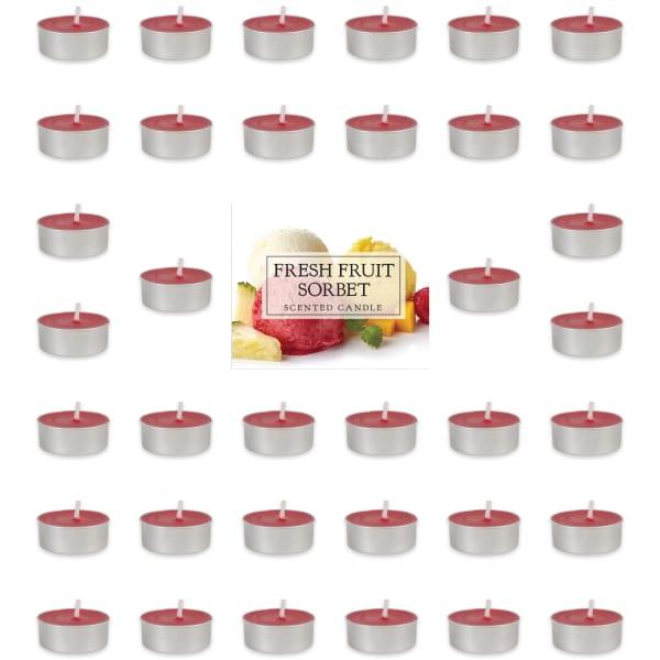 Fresh Fruit Sorbet Tealights 36 Pc