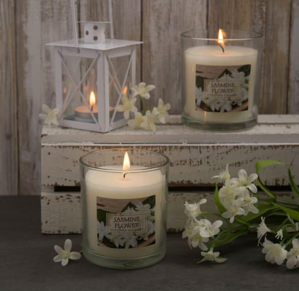 Jasmine Single Wick Candle (Set of 2)