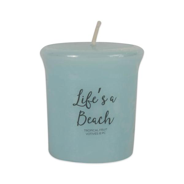 Lifes A Beach -Tropical Fruit Votives 8 Pc