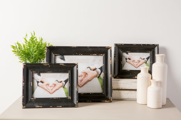 4x6 Distressed Black Farmhouse Picture Frame