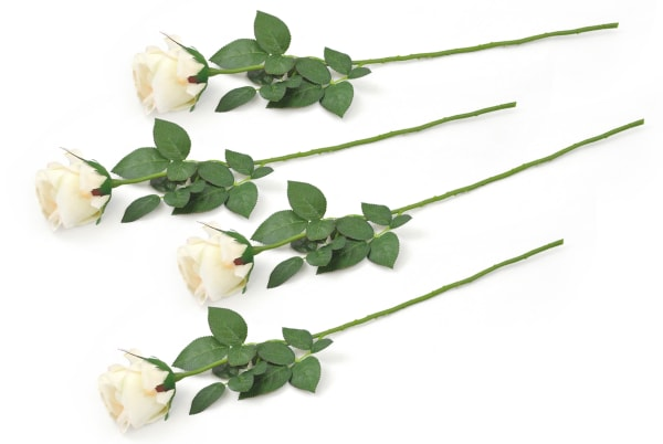 Flower Closed Rose Cream (Set of 4)