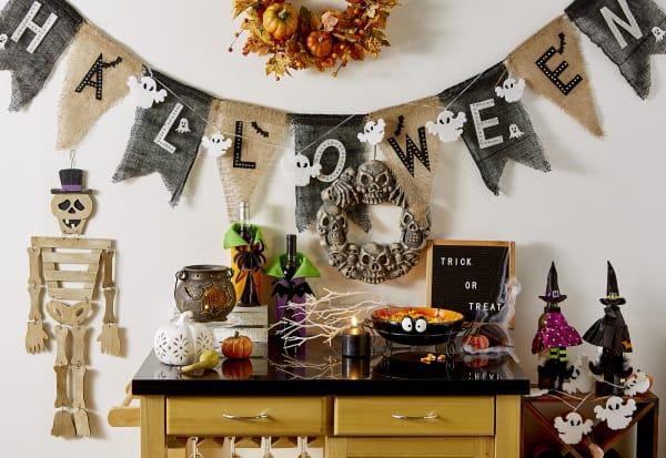 Halloween Burlap Banner