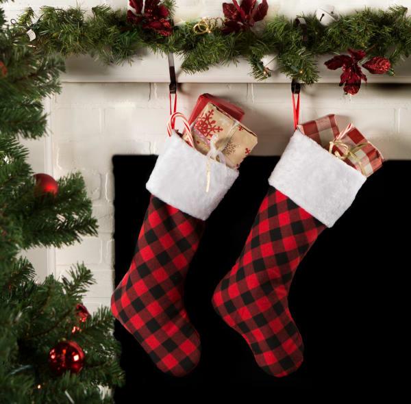 Holiday Stockings Red And Black Buffalo Check(Set of 2)
