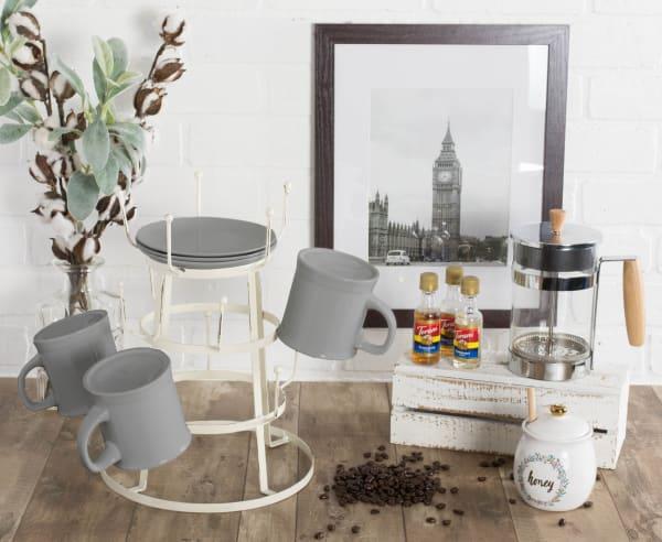 Vintage Mug Stand Antique White