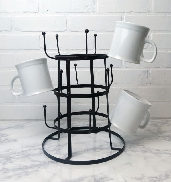 Vintage Mug Stand Black