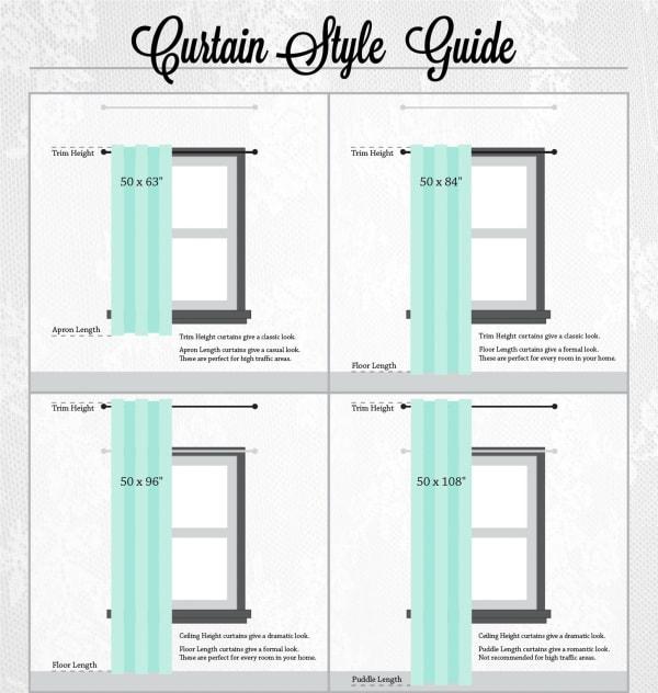 White Lace Circle Window Curtain 52x84 Set/2