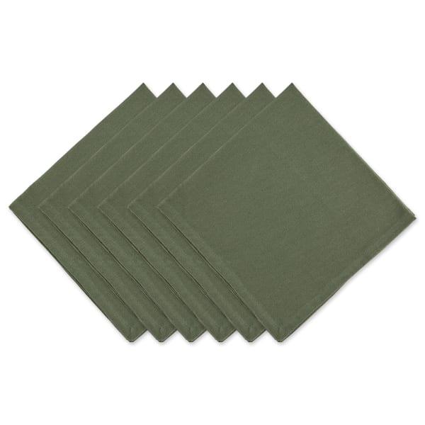 Artichoke Green Solid Napkin Set/6