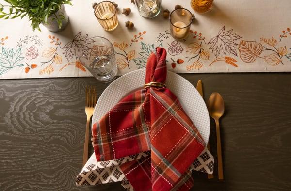 Autumn Spice Plaid Napkin (Set of 6)