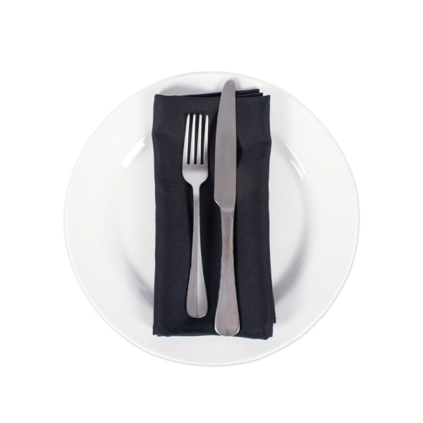 Black Commercial Quality 18x18 Napkin Set/12
