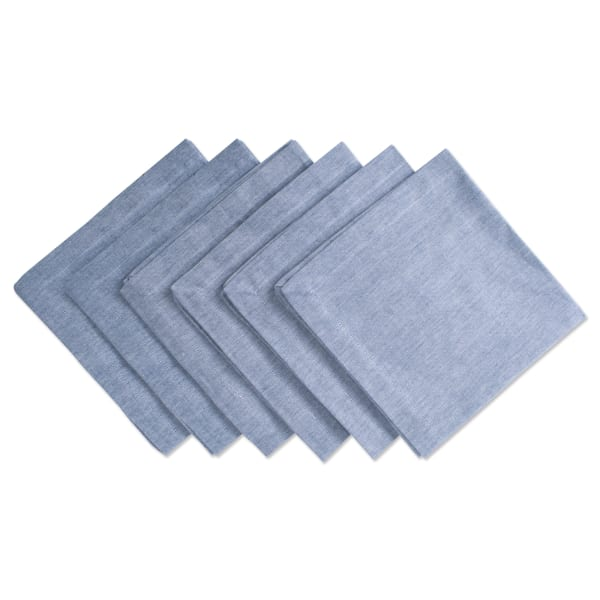 Blue Solid Chambray Napkin (Set of 6)
