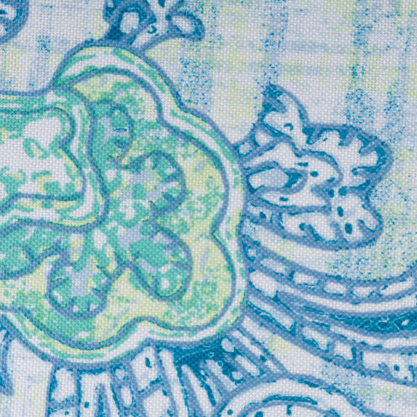 Blue Watercolor Paisley Print Outdoor Napkin (Set of 6)