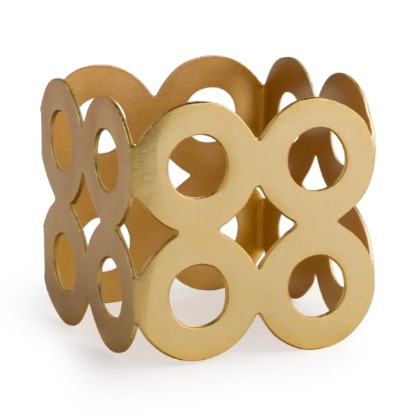 Gold Square Die Cut Napkin Ring (Set of 6)