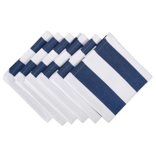 Navy/White Dobby Stripe Napkin (Set of 6)