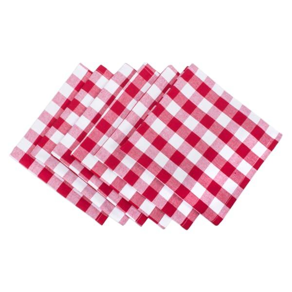 Red/White Check Napkin (Set of 6)