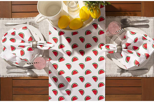 Watermelon Print Outdoor Napkin (Set of 6)