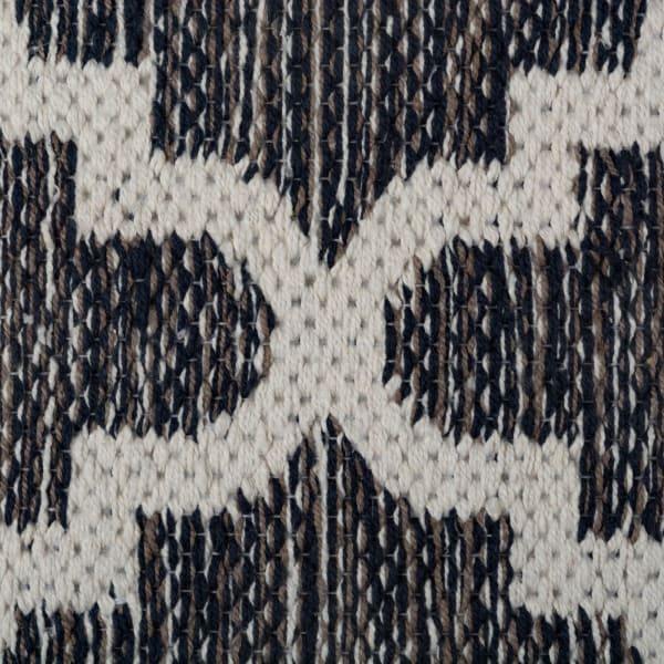 Gray Lattice Hand-Loomed Rug 4x6-ft