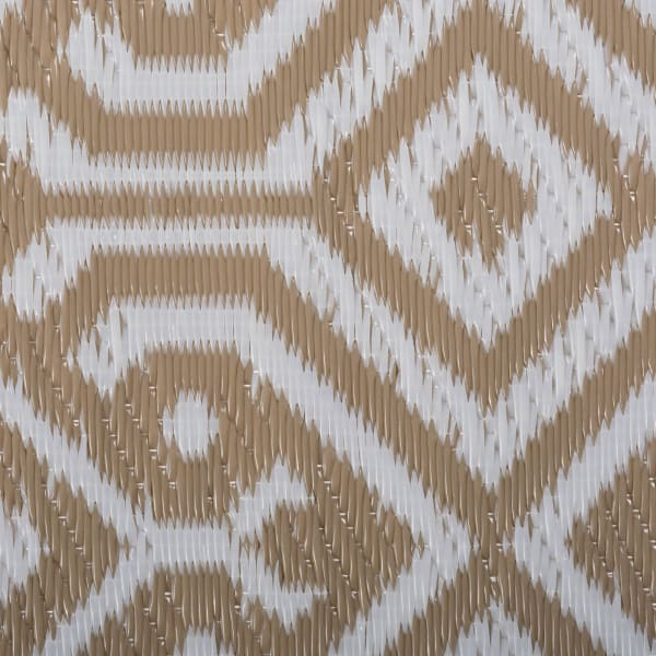 Taupe Morrocan Outdoor Rug 4x6-ft
