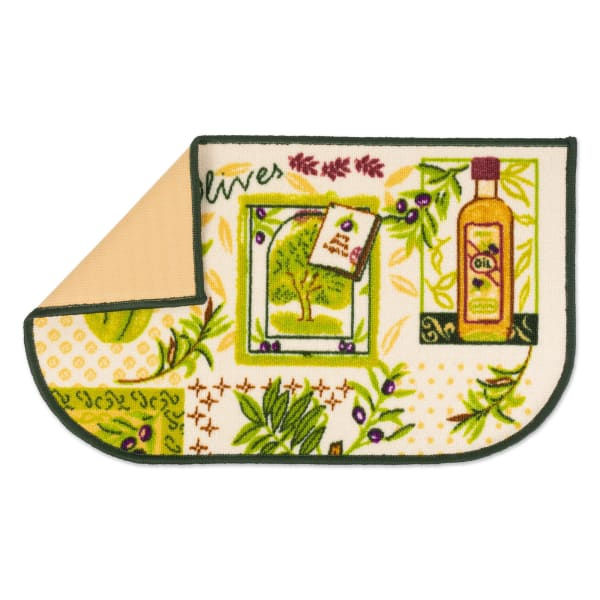 J&M Olives Print Kitchen D-Slice Rug 18x30
