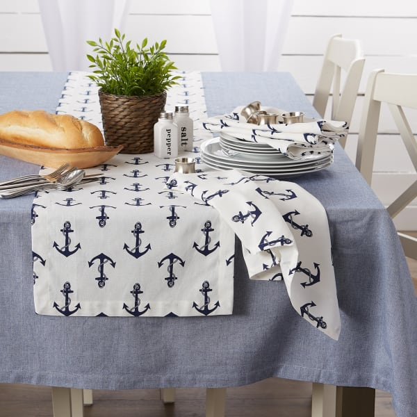 Anchors Away Print Table Runner 14x72