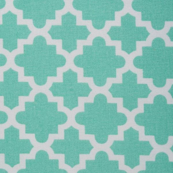 Aqua Lattice Tablecloth 70 Round