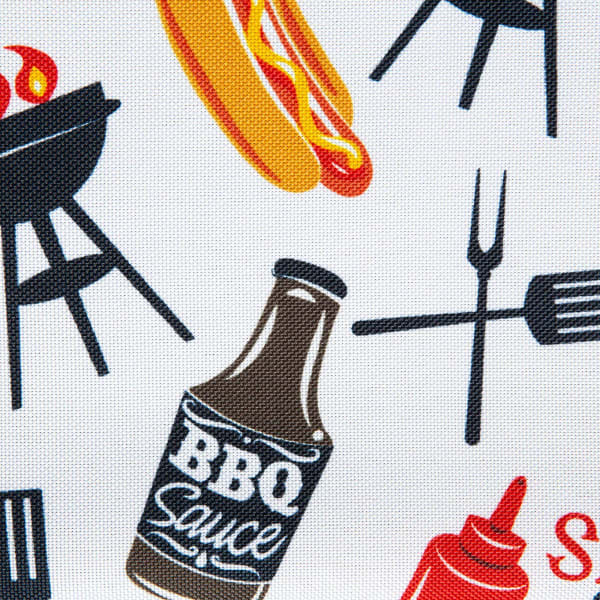 Bbq Fun Print Outdoor Tablecloth With Zipper 60 Round