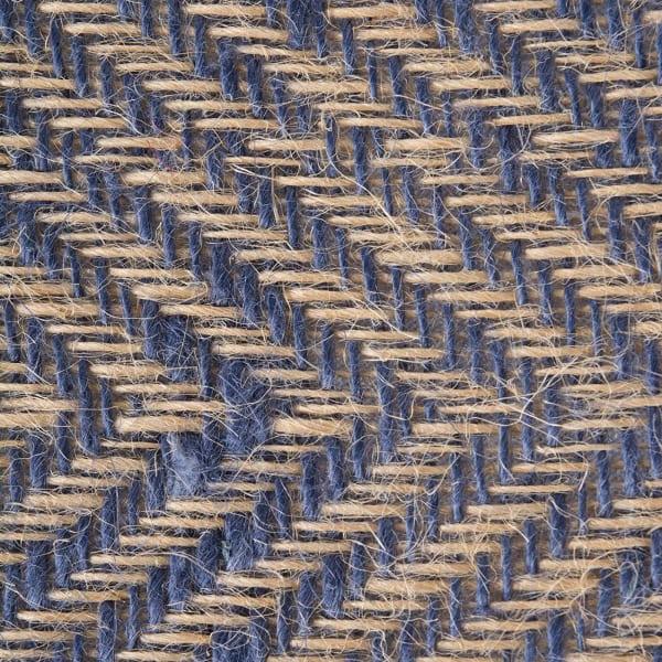 French Blue Chevron Burlap Table Runner 14x72
