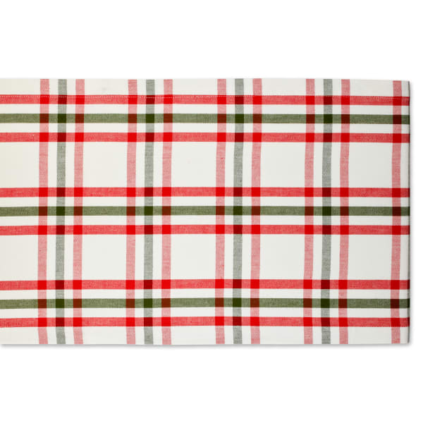Kitchen & Tabletop Jolly Tree Collection Table Runner, Nutcracker Plaid, 14x72