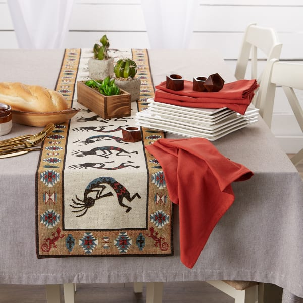 Kokopelli Tapestry Table Runner 13x72