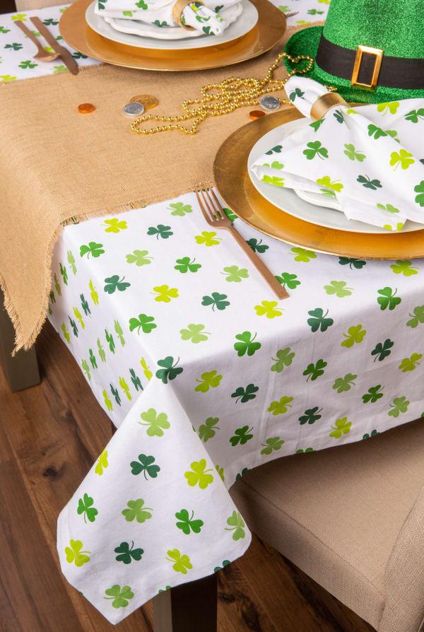 Shamrock Shake Print Tablecloth 60x84