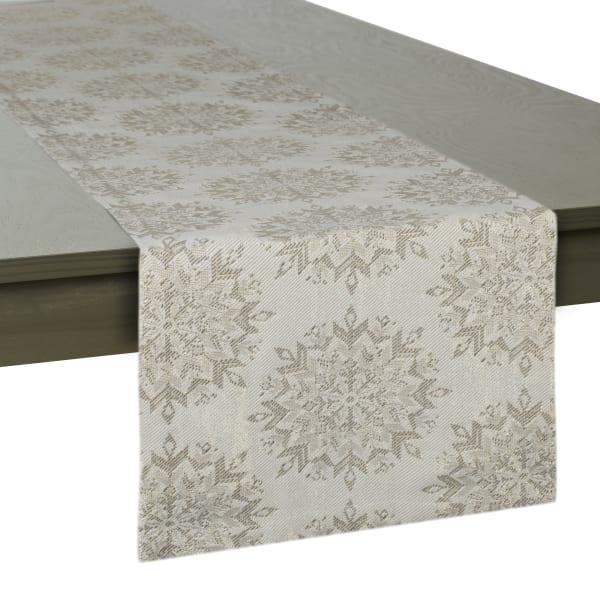 Winter Sparkle Jacquard Table Runner 14x108