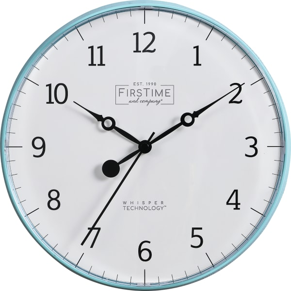 Aubrey Teal Wall Clock