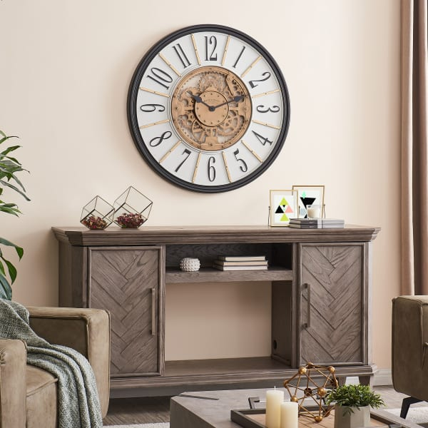 Brass Montevello Farmhouse Gears Clock
