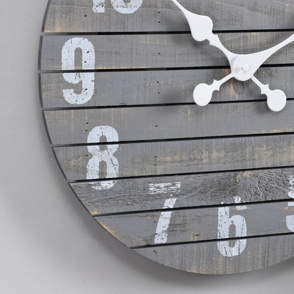 Gray Augustus Farmhouse Shiplap Clock