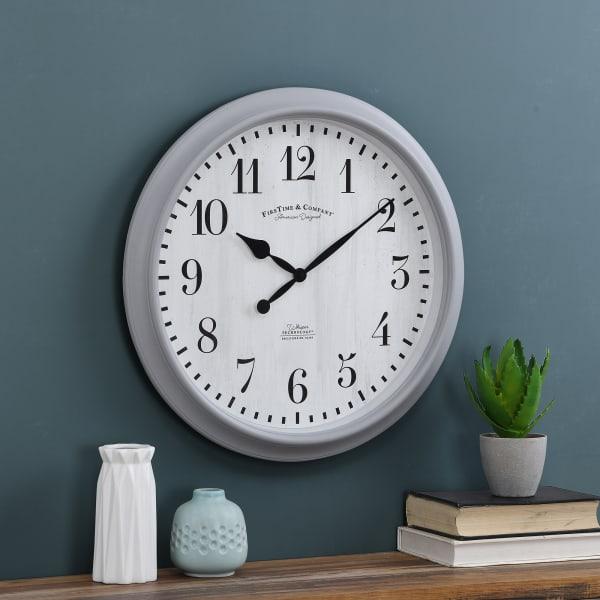 Gray Avery Farmhouse Whisper Clock