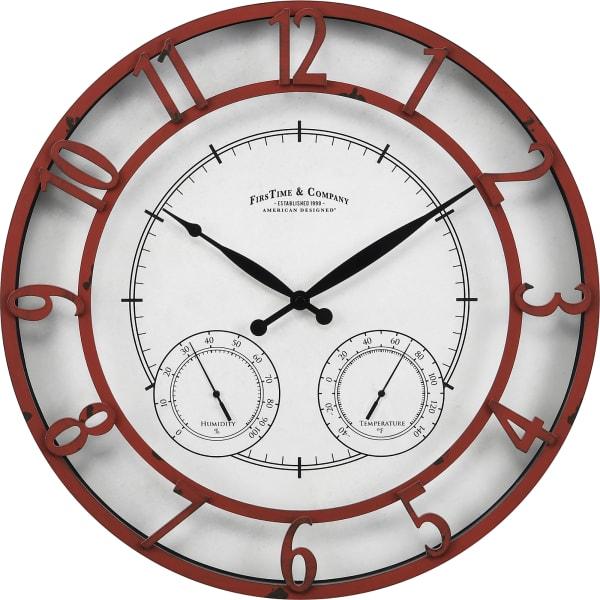 Red Laguna Outdoor Clock