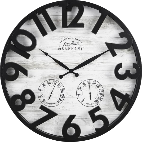 Sherwood Shiplap Farmhouse Outdoor Clock