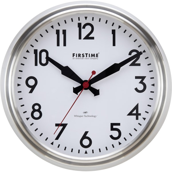 Steel Victor Modern Whisper Clock