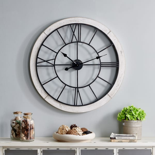 Timeworn Farmhouse Cottage Wall Clock