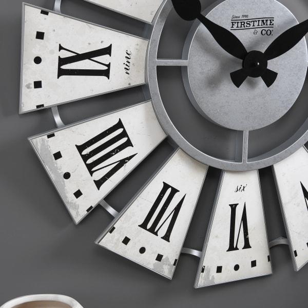 White Numeral Farmhouse Windmill Clock