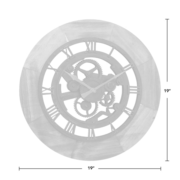 Wood Gear Wall Clock